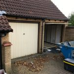 Converting double garage to a studio in Fishermead-1