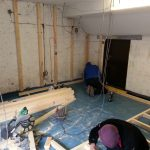 Converting double garage to a studio in Fishermead-3