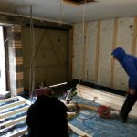 Converting double garage to a studio in Fishermead-4