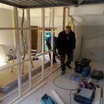 Converting double garage to a studio in Fishermead-7