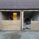 Converting double garage to a studio in Fishermead-16