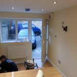 Converting double garage to a studio in Fishermead-26