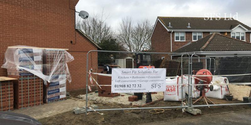 Smart Fit Solution building garage extension in Newport Pagnell